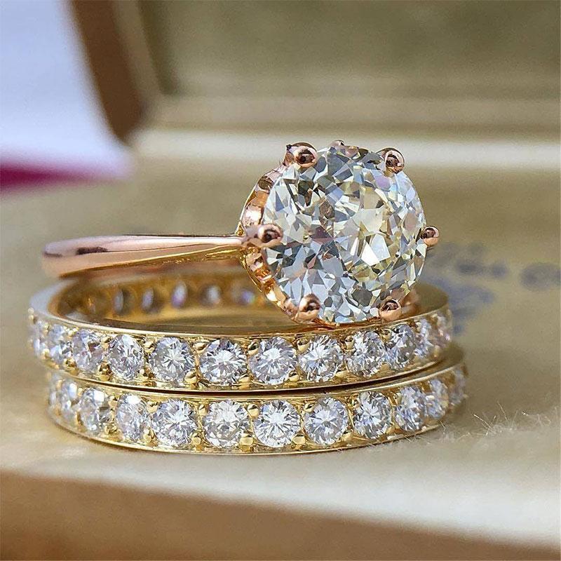 Gold Diamond Eternity Rings