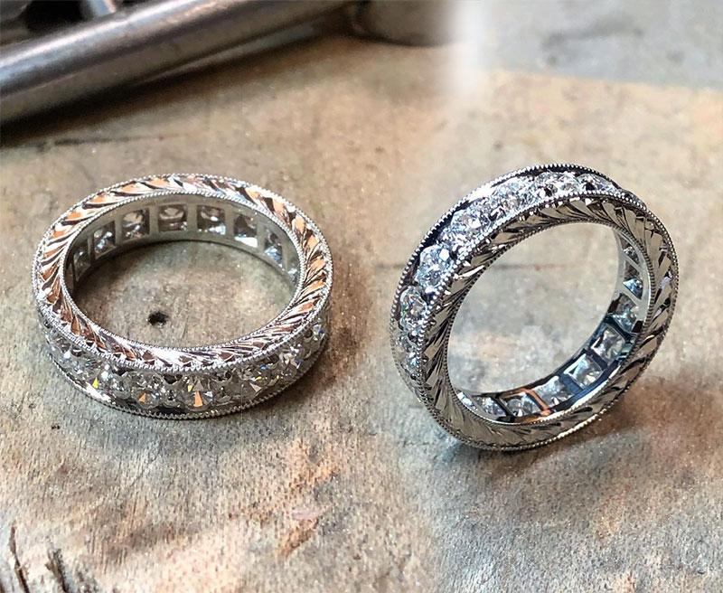 Platinum Eternity Rings