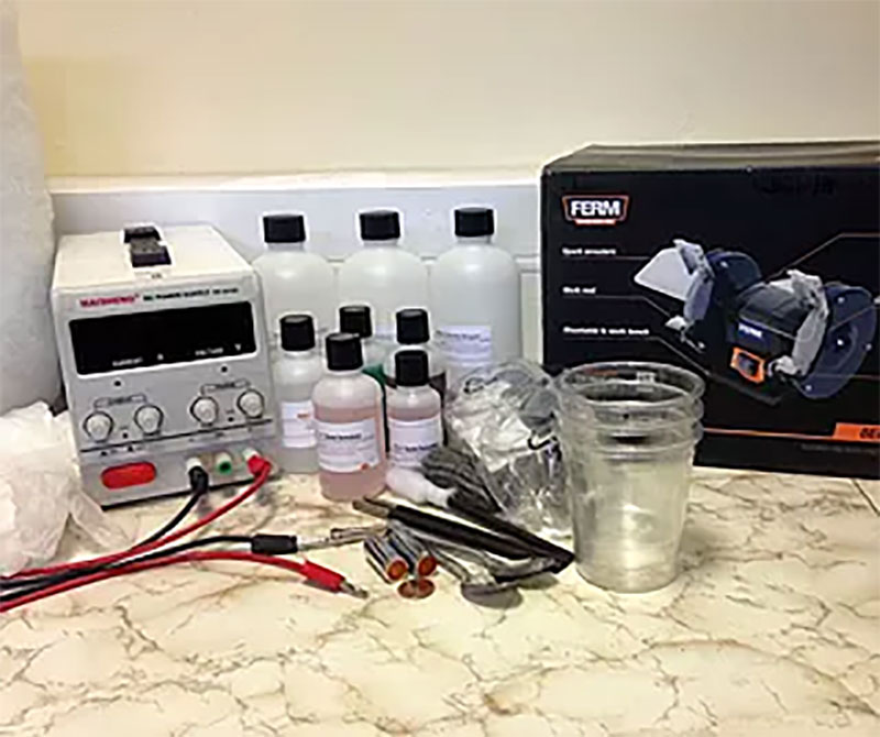 Electroplating kit
