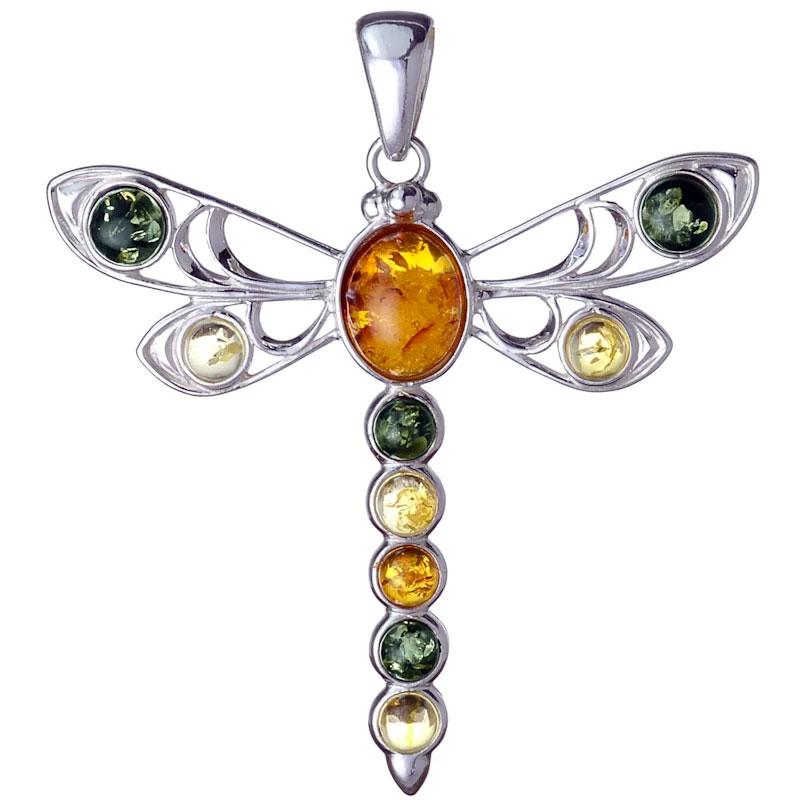 Baltic Amber Dragonfly Pendant