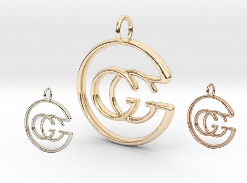 Gold Gucci Fashion Style Pendant