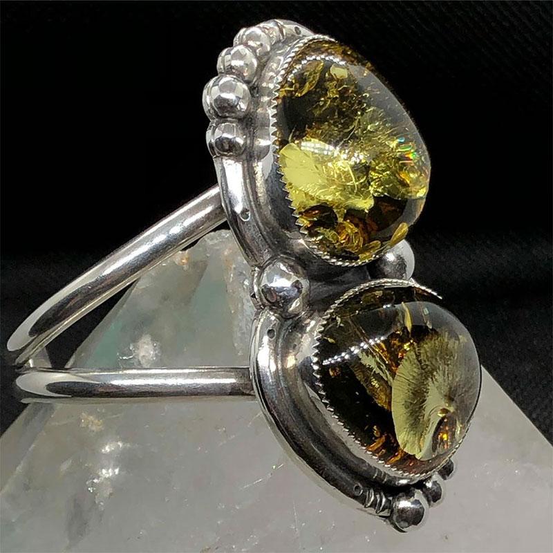 Green amber jewelry