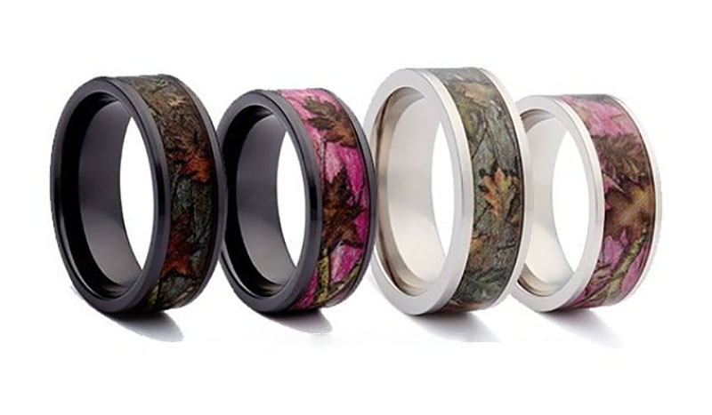 Unique Camo Wedding Ring