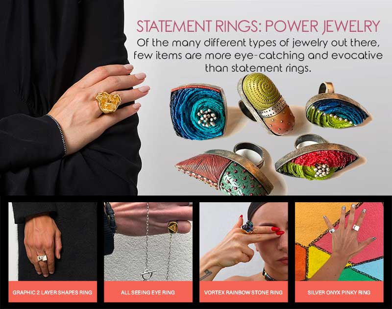 Statement Rings: Power Jewellery