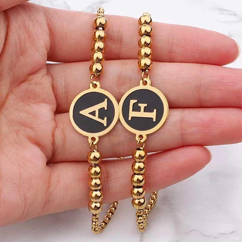 Charm letter bracelet