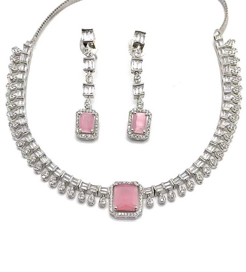 Pinky silver Pendant set
